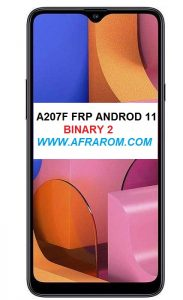 Samsung A207F FRP ANDROID 11 BINARY 2
